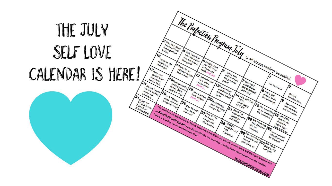 The July Self Love Calendar!
